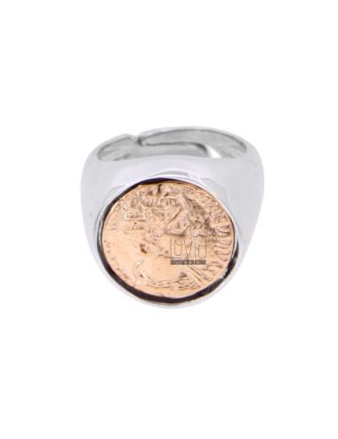 Ring mit münze 16 mm silber...