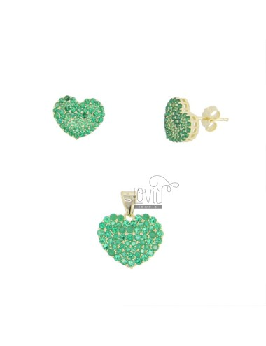 PENDANT AND HEART EARRINGS...