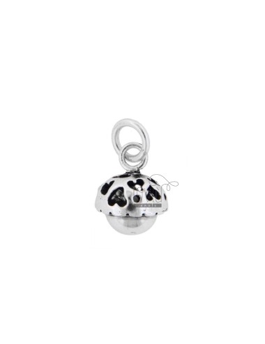 CALL ANGELS PENDANT MINI HEARTS 13 MM SILVER BRUNITO TIT 800 ‰