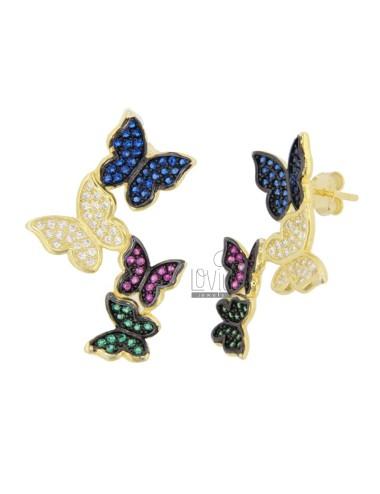 Pendientes mariposa...