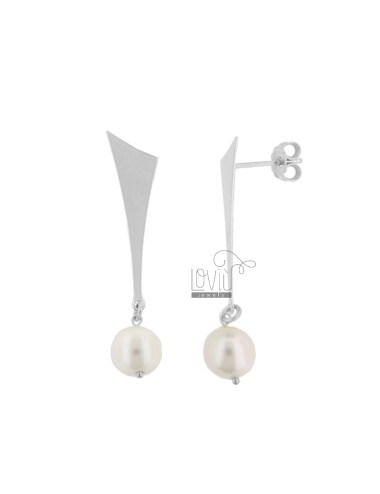 PENDANT EARRINGS WITH PEARL...