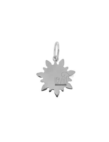 Pendant sun 18x15 mm silver...