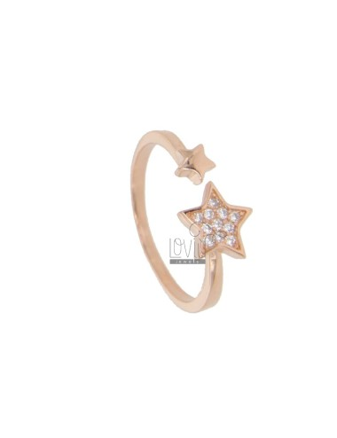 RING WITH STAR IN ROSE...
