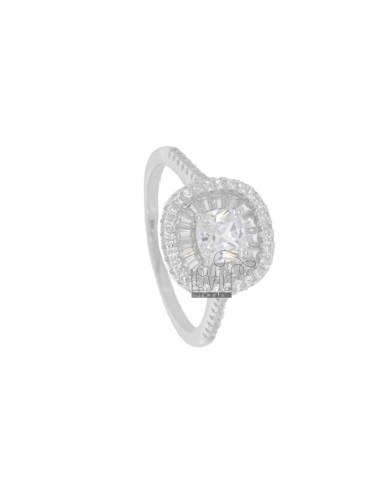 SQUARE RING WITH ZIRCONIA...