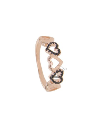 RING MIT 5 IN ROSE SILVER...
