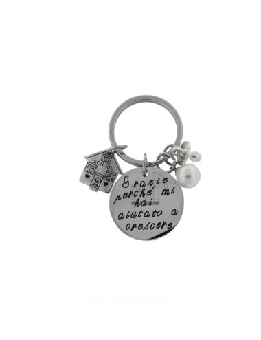 ROUND KEY RING THANKS BECAUSE YOU HELPED ME TO GROW IN STEEL