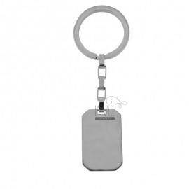 STEEL RECTANGULAR KEY RING 34X22 MM