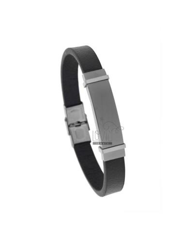 Bracelet in black leather...