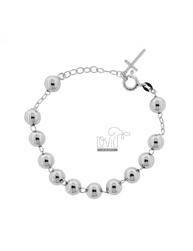 ROSARY BRACELET WITH SMOOTH...