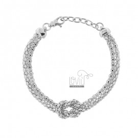 KOREAN BRACELET WITH KNOT IN SILVER RHODIUM TIT 925 ‰ CM FROM 17 EXTENDABLE TO 19