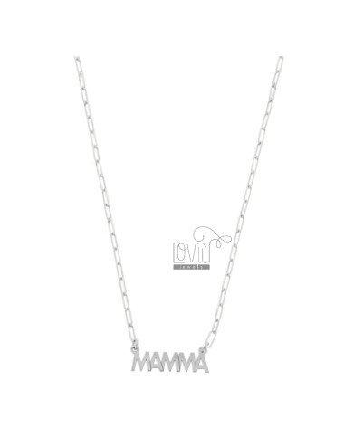 NECKLACE CABLE EXTENDED WITH MOTHER IN SILVER RHODIUM TIT 925 ‰ CM 40-45