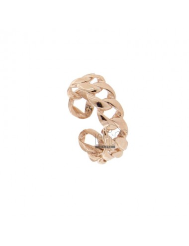GROUMETTE RING 6 MM IN ROSE SILVER TIT 925 ADJUSTABLE SIZE