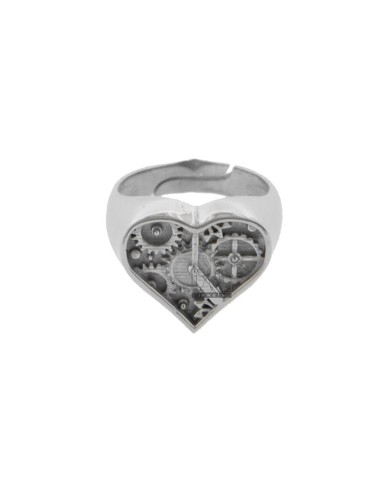 Chevalier ring heart clock...