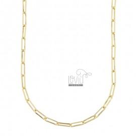 STRETCH NECKLACE 3X10 MM GOLDEN SILVER TIT 925 CM 80