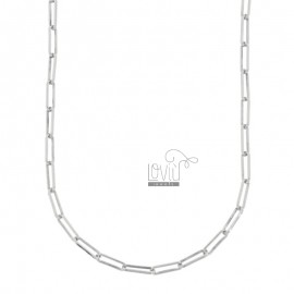 NECKLACE CABLE EXTENDED MM 3X10 IN SILVER RHODIUM TIT 925 CM 80