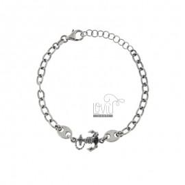 CABLE BRACELET WITH SEA SHIRTS AND STILL IN BRUNITO SILVER TIT 925 CM 17-20