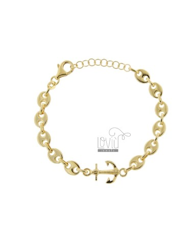 MARINE SWEATER BRACELET AND STILL IN GOLDEN SILVER TIT 925 CM 17-20
