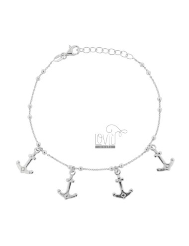 CABLE BRACELET WITH ANCHORS...