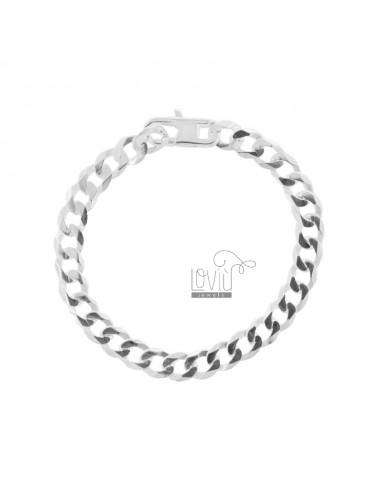 CURTAIN BRACELET 9 FLAT SILVER TIT 925 ‰ WITH FRENCH CLOSURE CM 19.5