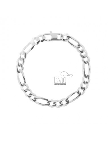 BRACELET 3 1 MM 7X2 SILVER 925 ‰ 19 CM WITH FRENCH CLOSURE