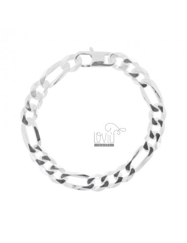BRACELET 3 1 MM 9X2 SILVER 925 ‰ CM 21 WITH FRENCH CLOSURE