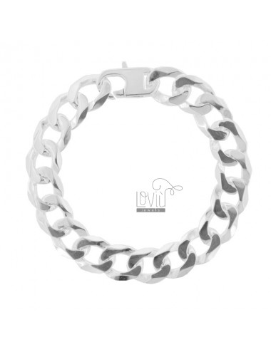 CURTAIN BRACELET 9 MM FLAT SILVER TIT 925 ‰ WITH FRENCH CLOSURE 21 CM