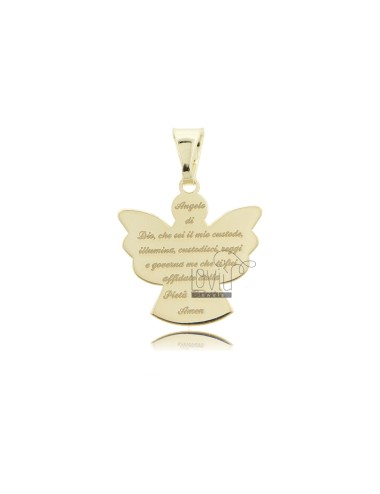 ECO ANGEL PENDANT WITH PRAYER 20X19 MM GOLDEN SILVER TIT 925