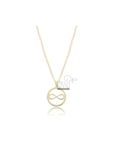 NECKLACE ROLO WITH INFINITY IN THE CIRCLE PENDANT IN GOLD SILVER TIT 925 ‰ CM 45