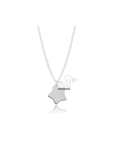 ROLO NECKLACE WITH STAR IN SILVER RHODIUM TIT 925 ‰ CM 45