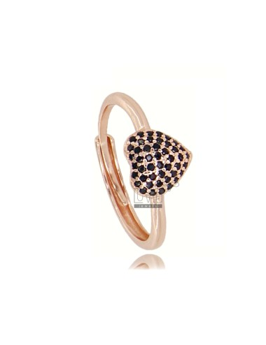 Ring with heart in rose...