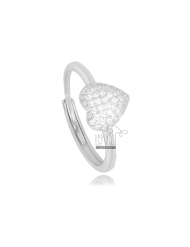 RING WITH HEART IN SILVER...
