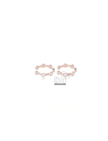 EAR CUFF IN ROSE SILVER TIT 925 WITH WHITE ZIRCONS