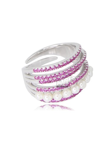 RING WITH 6 WIRES IN SILVER...