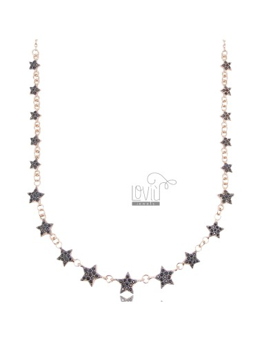 Cable necklace with stars...