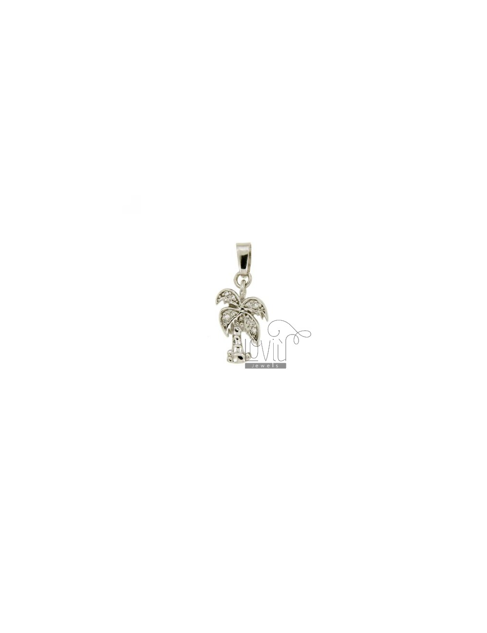 PENDANT SILVER PALM MM 18x11 TIT 925 ‰ AND ZIRCONIA