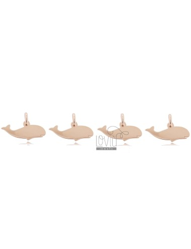 WHALE PENDANT MM 7X15 PCS 4 IN ROSE SILVER TIT 925