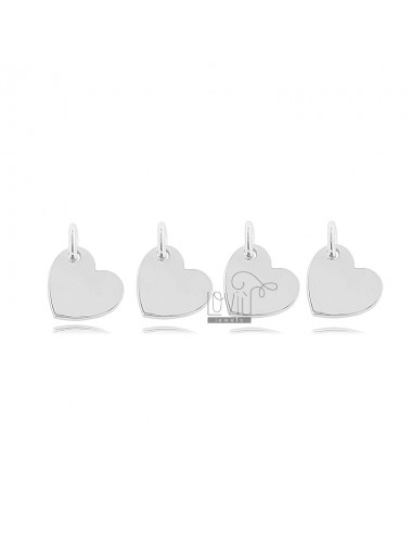 HEART PENDANT MM 8X9 PCS 4 IN SILVER RHODIUM-PLATED TIT 925