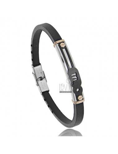 Rubber bracelet with...