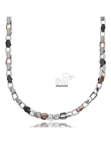 Tricolor steel chain cm 50