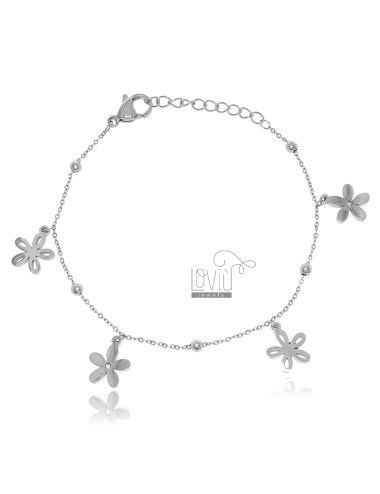STEEL BRACELET WITH FLOWERS...