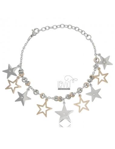 Two-tone steel bracelet...