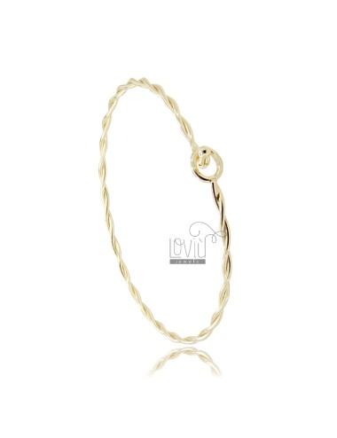 Torchon rigid bracelet with...