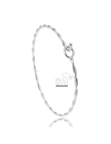 Rigid torchon bracelet with...