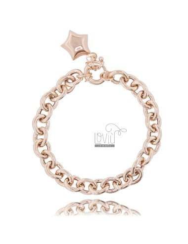 Cable bracelet with star in...
