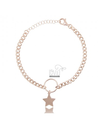 Curb bracelet with star in...