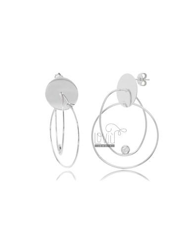 Pendant earrings with...