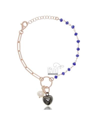 Bracelet with heart in rose...