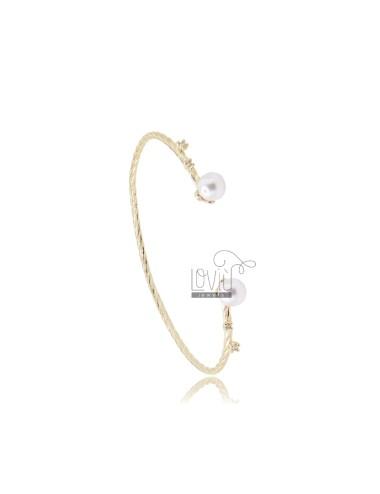 Rigid bracelet with beads...