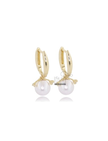 EARRINGS SNAP WITH PEARL MM...