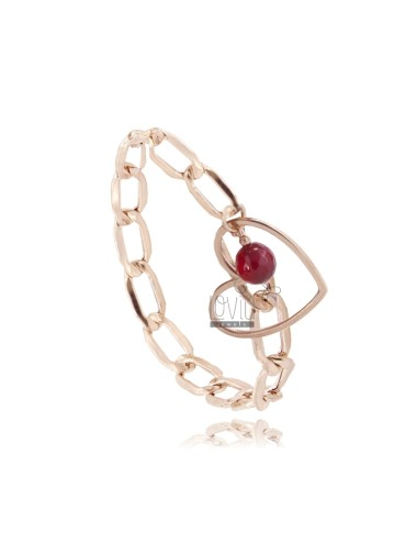 Bracelet with heart and...
